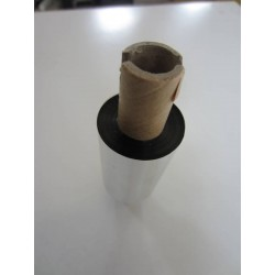 Ribbon Cera Eje 12mm Cabezal Plano Negro 70m