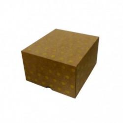 Cajas Cartón Decoradas 20x18x12 Lunares Oro