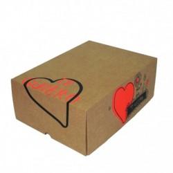 Cajas Cartón 30x22x12 Felicidades Corazón
