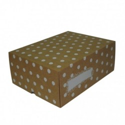 Cajas Cartón 30x22x12 Lunares Blancos