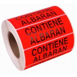 """Etiqueta """"Contiene Albarán"""""""