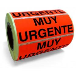 """Etiqueta """"Muy Urgente"""""""